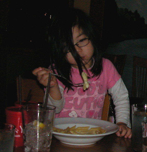 Jayna and her pasta
